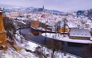 Чешский Крумлов Зимой